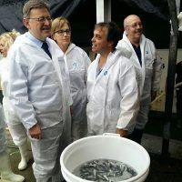 El President de la Generalitat Valenciana visita las instalaciones de Frescamar