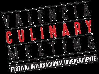 Logotipo Valencia Culinary Meeting con Corvina REX