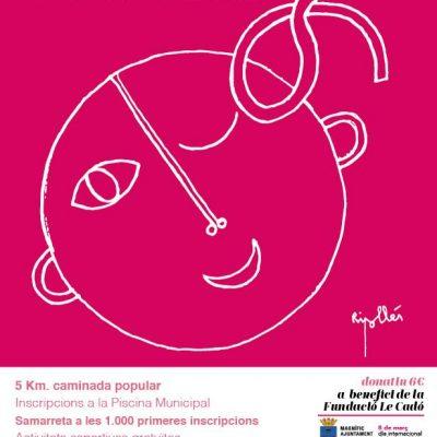Cartel Cursa de la Dona en Burriana REX Frescamar Fundacion Le Cado