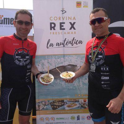 Exito avituallamiento poste meta con Corvina REX