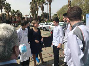 Ministra Tejerina MAPAMA visita CSHM Corvina REX