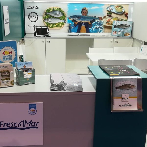 SeaFood Expo Global Bruselas Frescamar Bio y Corvina REX Frescamar