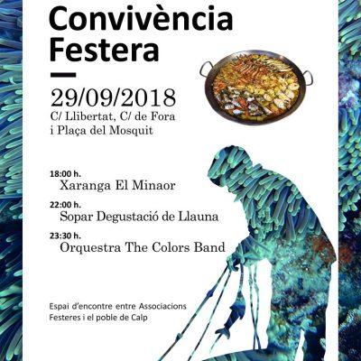 Cartel Convivencia Festera colabora Corvina REX