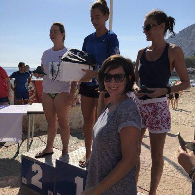 Entrega de premios Volta al Peñon de Ifach con Corvina REX