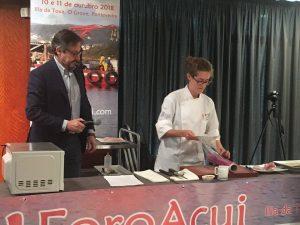 showcooking Laura Castelblanque Corvina REX