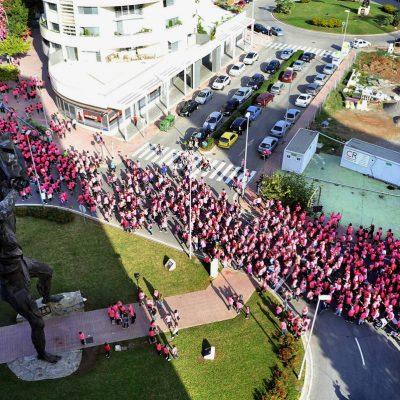 Foto aerea marcha solidaria Corvina REX