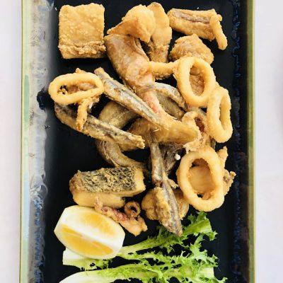 Fritura pescado con Corvina REX