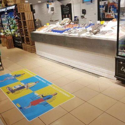 Vinilo zona pescaderia promo sello Crianza der Nuestros Mares