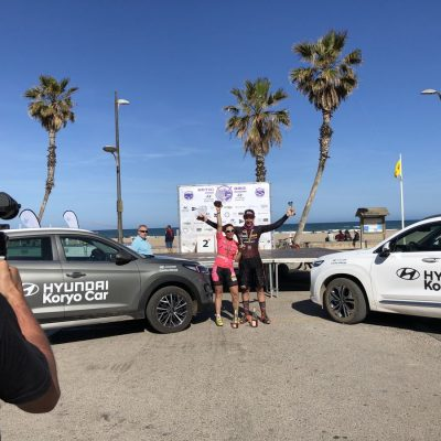 Ganador masculino y femenino Mitic Bike con Corvina REX