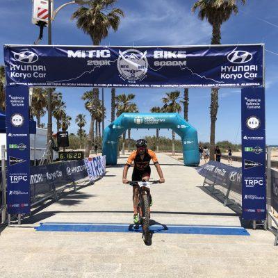Llegada a meta ganador tercera etapa Mitic Bike 2019