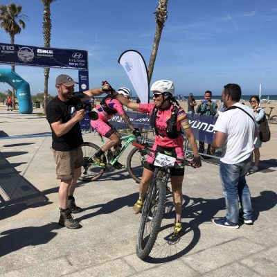 Maria Jose Martinez Maroto llegada Mitic Bike patrocinada por Corvina REX