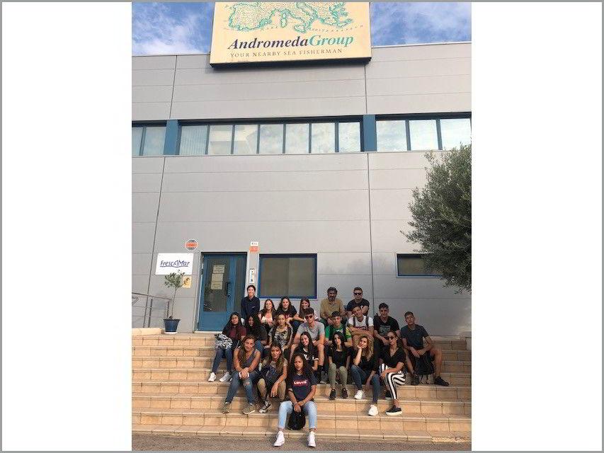 Estudiantes italianos GASMA visitan FRESCAMAR