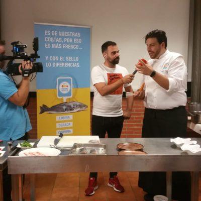 Xanty Elias, estrella Michelin, en taller REX y CdNM