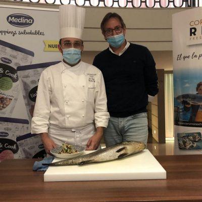 Eduardo Soler y Jose Luque con Corvina REX